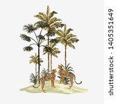 beautiful tropical vintage... | Shutterstock .eps vector #1405351649