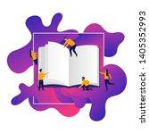 book festival    small cartoon... | Shutterstock .eps vector #1405352993