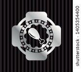 chicken leg icon inside silvery ... | Shutterstock .eps vector #1405354400