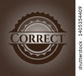 correct retro wood emblem.... | Shutterstock .eps vector #1405354409