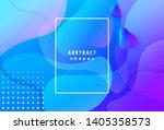 gradient geometric background... | Shutterstock .eps vector #1405358573