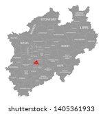 solingen red highlighted in map ... | Shutterstock . vector #1405361933