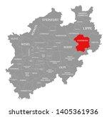 paderborn red highlighted in... | Shutterstock . vector #1405361936