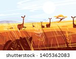 wild picturesque savannah... | Shutterstock .eps vector #1405362083