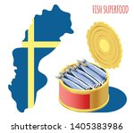 fish superfood isometric...   Shutterstock .eps vector #1405383986