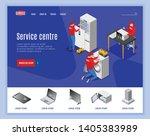 service centre isometric...