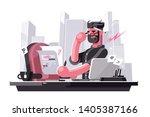 angry art director vector... | Shutterstock .eps vector #1405387166