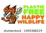 fox. cartoon fox with copyspace.... | Shutterstock .eps vector #1405388219