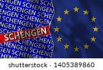european union and schengen... | Shutterstock . vector #1405389860