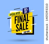 square final sale banner ...   Shutterstock .eps vector #1405393310