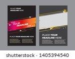 abstract poster design template ... | Shutterstock .eps vector #1405394540