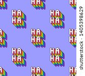 seamless pattern with words  ha ... | Shutterstock .eps vector #1405398629