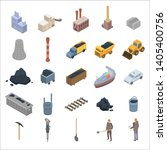 coal industry icons set.... | Shutterstock .eps vector #1405400756