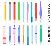set of pen  pencil  felt tip...   Shutterstock .eps vector #1405406630