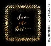 golden glittering frame with... | Shutterstock .eps vector #1405416743