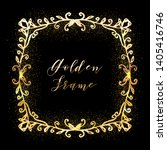 golden glittering frame with... | Shutterstock .eps vector #1405416746