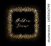 golden glittering frame with... | Shutterstock .eps vector #1405416749