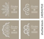 invitation is decorated with a... | Shutterstock .eps vector #140541910