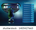 soccer table with background of ... | Shutterstock .eps vector #1405427663