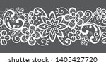 romantic seamless lace vector... | Shutterstock .eps vector #1405427720