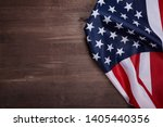american flag on wooden... | Shutterstock . vector #1405440356