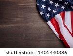 american flag on wooden... | Shutterstock . vector #1405440386