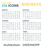 collection of line icons of... | Shutterstock . vector #1405446599