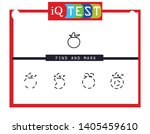 iq test   practical questions.... | Shutterstock .eps vector #1405459610