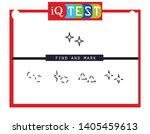 iq test   practical questions.... | Shutterstock .eps vector #1405459613