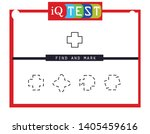 iq test   practical questions.... | Shutterstock .eps vector #1405459616