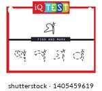 iq test   practical questions.... | Shutterstock .eps vector #1405459619