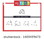 iq test   practical questions.... | Shutterstock .eps vector #1405459673