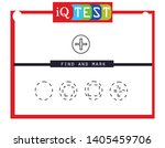 iq test   practical questions.... | Shutterstock .eps vector #1405459706
