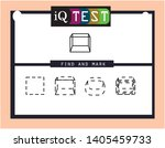 iq test   practical questions.... | Shutterstock .eps vector #1405459733