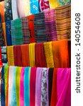 multi coloured scarfs | Shutterstock . vector #14054608