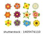 set of summer flowers vector...   Shutterstock .eps vector #1405476110