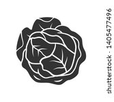 cabbage glyph icon. vegetable.... | Shutterstock .eps vector #1405477496