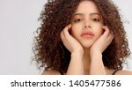 mixed race model with... | Shutterstock . vector #1405477586