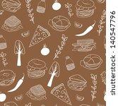 food seamless pattern. hand...   Shutterstock .eps vector #140547796
