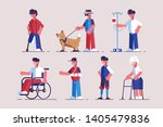 disabled characters set vector... | Shutterstock .eps vector #1405479836