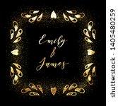 golden glittering frame with... | Shutterstock .eps vector #1405480259