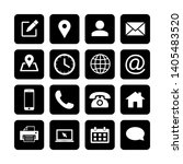 web icon set. contact us icons. ... | Shutterstock .eps vector #1405483520