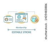 membership concept icon.... | Shutterstock .eps vector #1405483886