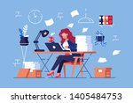 large amount of work vector... | Shutterstock .eps vector #1405484753