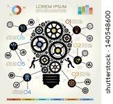 modern business concept   info... | Shutterstock .eps vector #140548600