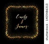 golden glittering frame with... | Shutterstock .eps vector #1405486313