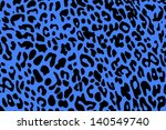 Blue Background Of  Leopard ...