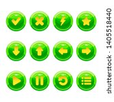 green round buttons with yellow ...