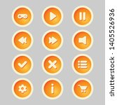 orange buttons with user icons ...