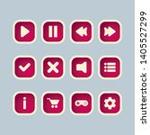 pink square buttons with user...